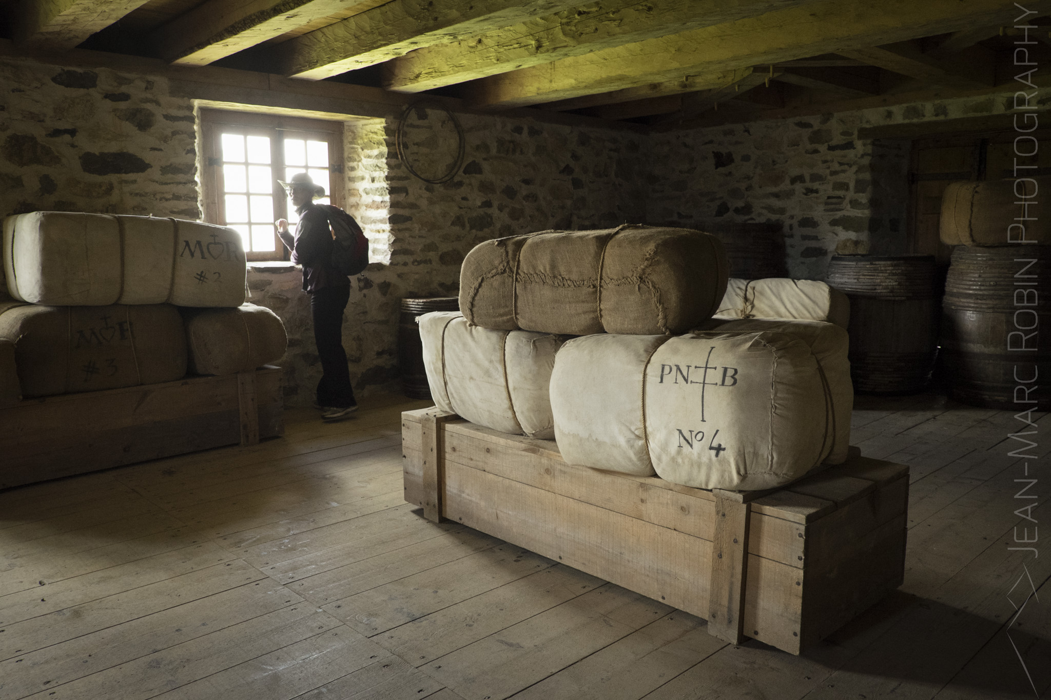 Indoors at Louisbourg